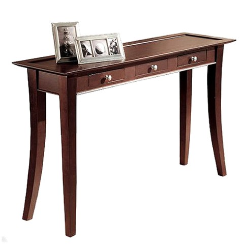 Dolce 3 Drawer Console Table Dark Walnut Linon