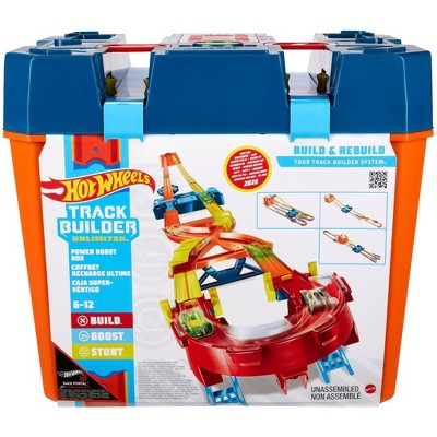 Hot Wheels Track Builder Unlimited Power Boost Box Trackset