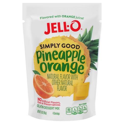 JELL-O Simply Good Pineapple Orange Gelatin Dessert Mix - 3oz - image 1 of 1