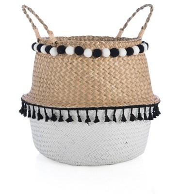Large Laramie Basket  - Beige - Shiraleah