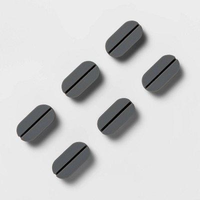 heyday™ Pill Clip Cable Management 6pk - Cool Gray