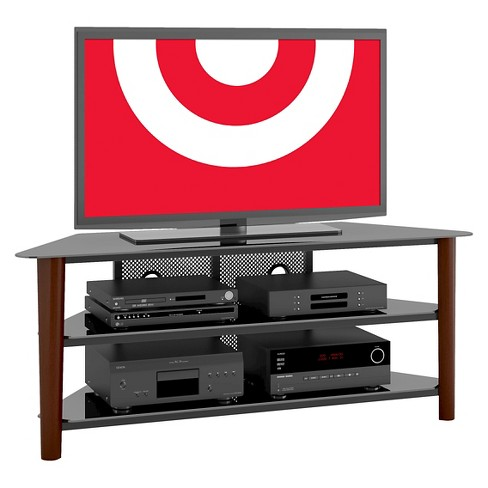 "Stained Wood Veneer TV Stand Espresso 60"" - CorLiving - image 1 of 3"