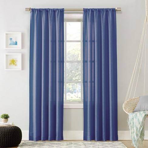 Layne Heathered Solid Curtain Panel - No. 918 - image 1 of 5