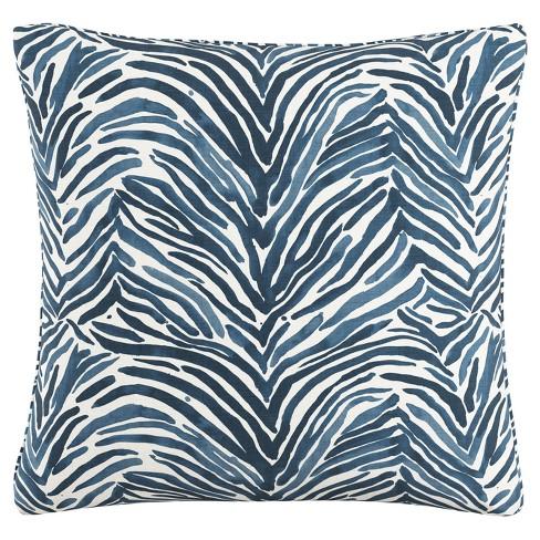 "Blue Zebra Throw Pillow (20""x20"") - image 1 of 4"