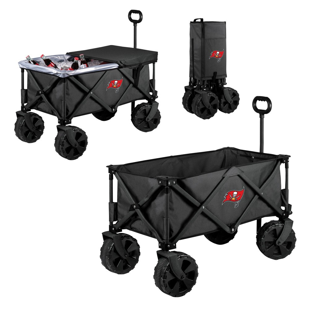 NFL Tampa Bay Buccaneers Picnic Time Elite Cooler with All-Terrain Wheels - Dark Gray