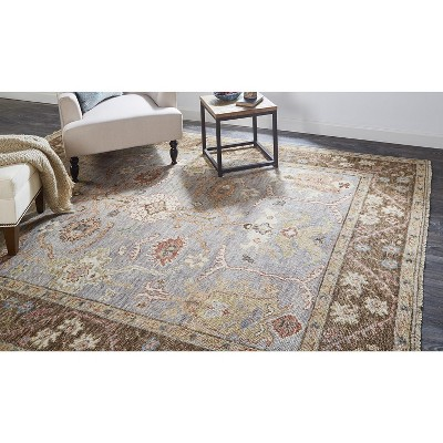 Feizy Carrington Traditional Oushak Area Rug, Geo Floral, Gray/Brown, 3ft-6in x 5ft-6in