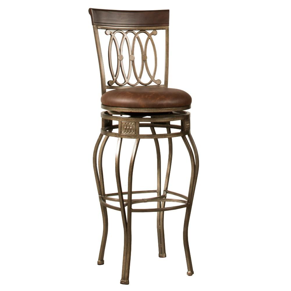 32 Montello Swivel Bar Stool Bronze/Brown - Hillsdale Furniture
