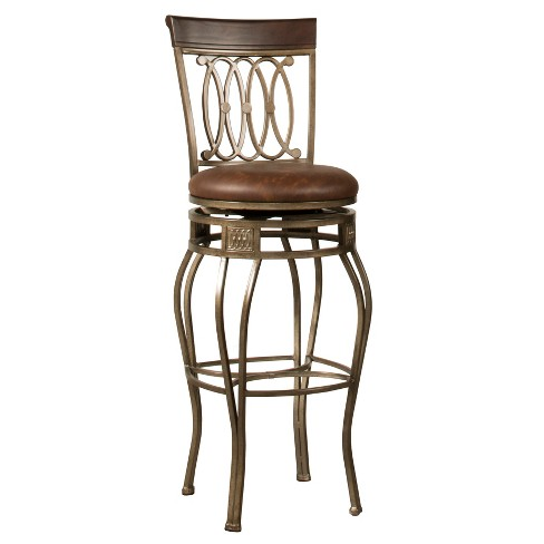 Awesome 32 Montello Swivel Bar Stool Bronze Brown Hillsdale Furniture Creativecarmelina Interior Chair Design Creativecarmelinacom