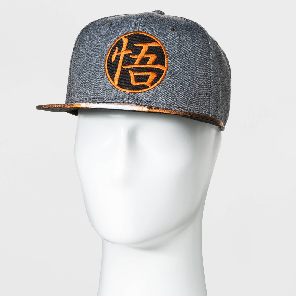 Image of Men's Dragon Ball Z Flat Brim Baseball Hat - Gray One Size, Men's