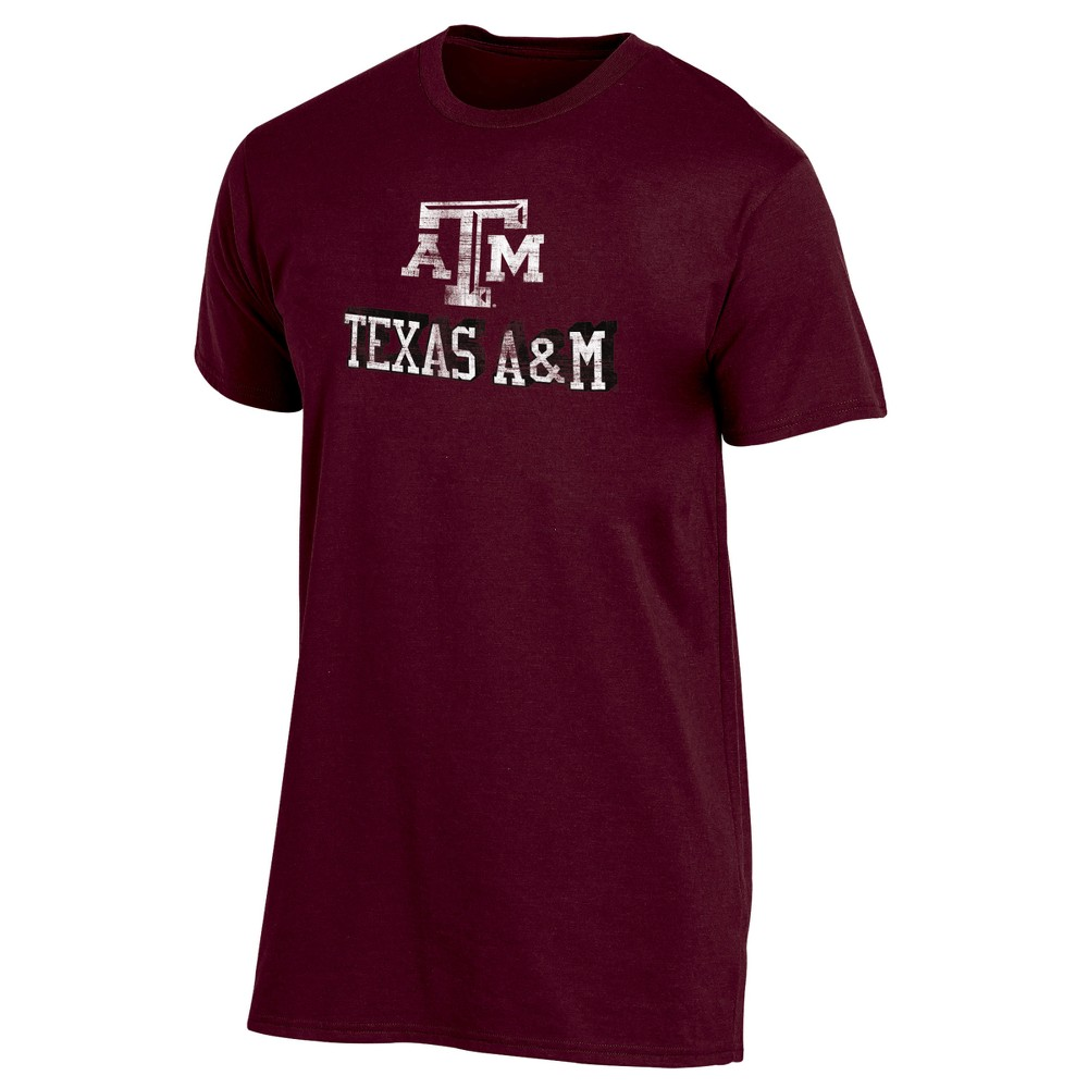 Texas A&m Aggies Men's Short Sleeve Keep the Lights On Bi-Blend Gray Heathered T-Shirt S, Multicolored