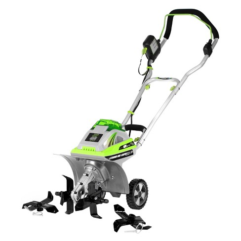 11 40 Volts 144 Watts Lithium Tiller Cultivator Gray Earthwise Target