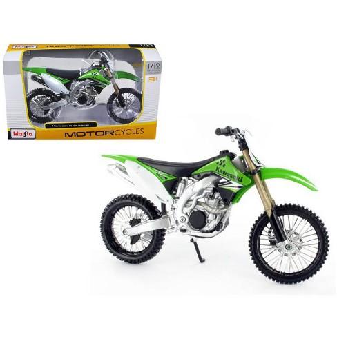 Kawasaki Kx 450f Green Motorcycle Model 112 Bike By Maisto Target