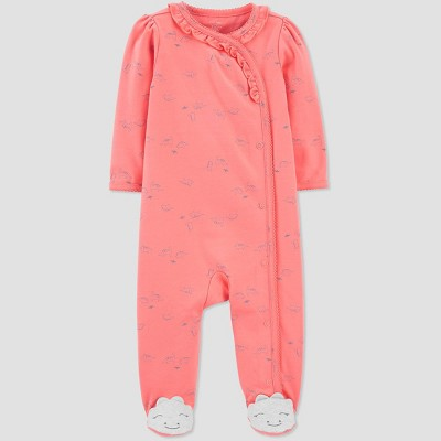 Baby Girls' Dino One Piece Pajamas - Just One You® made by carter's Coral Newborn
