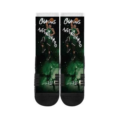 NBA Milwaukee Bucks Giannis Antetokounpo Galaxy Socks