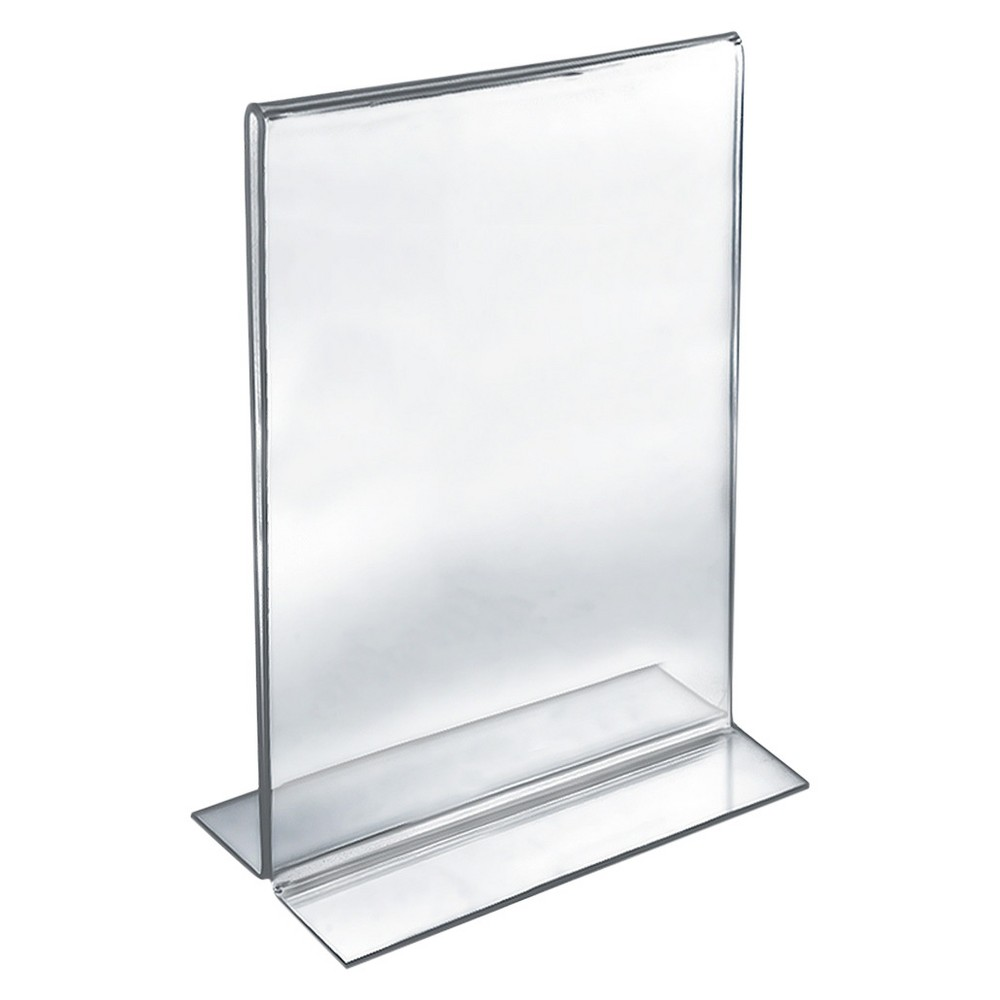 "Image of ""Azar 11"""" x 17"""" Double-Foot Acrylic Sign Holder 10ct"""