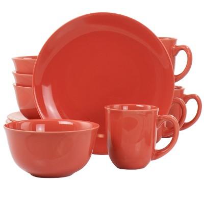 Gibson Home Mercer 12 Piece Round Stoneware Dinnerware Set