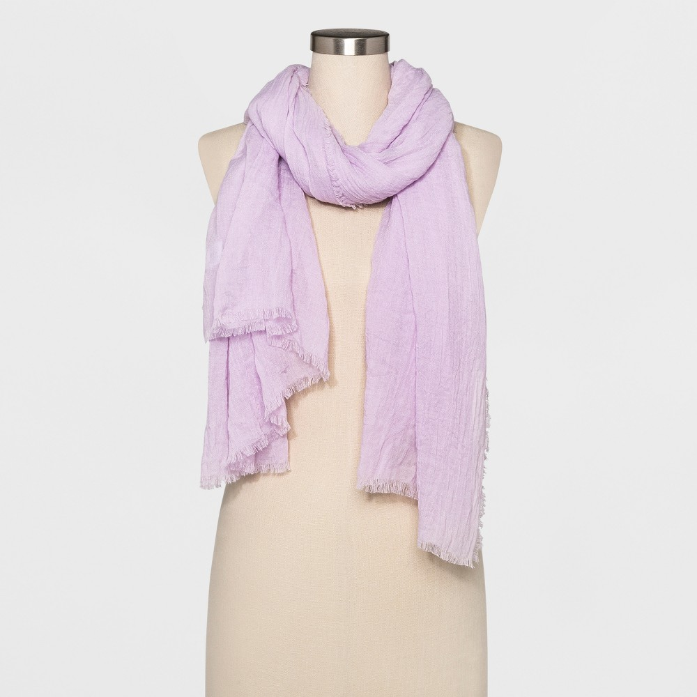 Women's Oversized Oblong Scarf - A New Day Lilac (Purple)