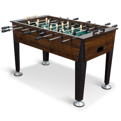 EastPoint Sports 54 Inch Official Competition Size Newcastle Dark Brown Indoor Soccer Foosball Table with 2 Foosballs Included
