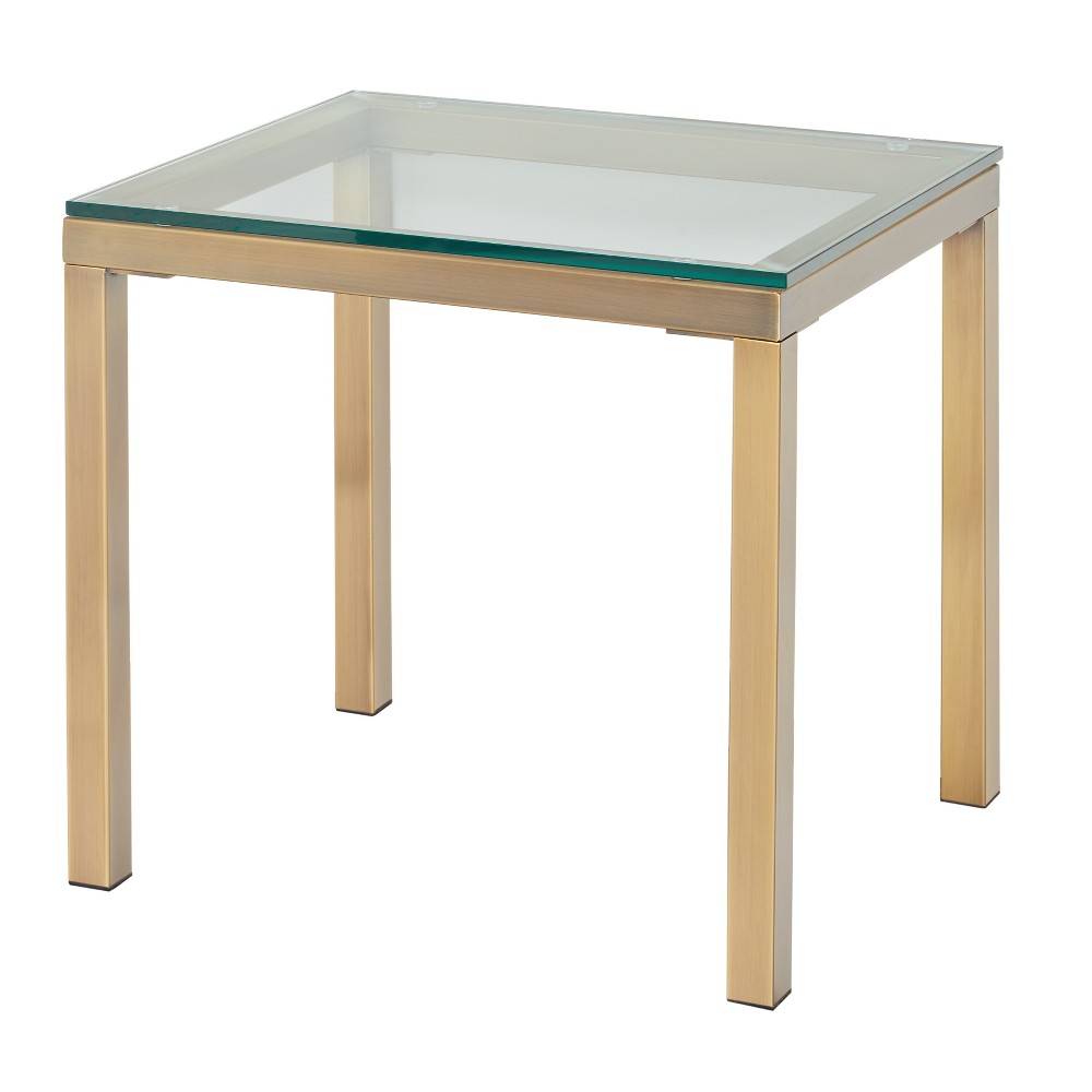 Manhattan End Table Gold - Buylateral