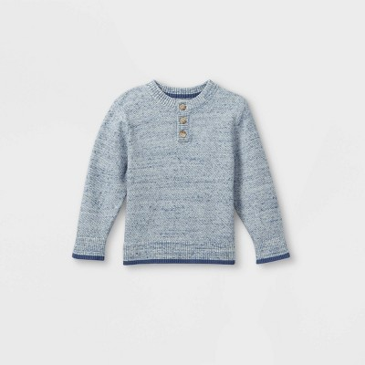 Toddler Boys' Henley Pullover Sweater - Cat & Jack™ Heather Gray