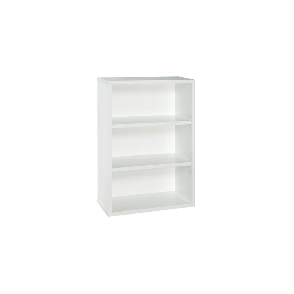 """Image of """"44"""""""" 3 Shelf Bookcase White - ClosetMaid"""""""
