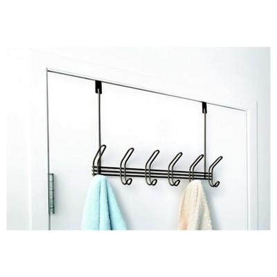 Over-the-Door Hook Rack 6 Hook Bronze - Totally Bath