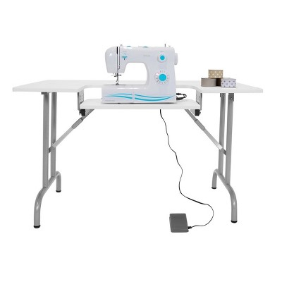 Folding Multipurpose / Sewing Table - White - Sew Ready