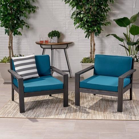 Santa Ana 2pk Acacia Wood Club Chairs