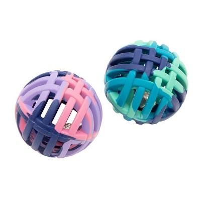 Lattice Balls Cat Toys - Tie-Dye - 2pk - Boots & Barkley™