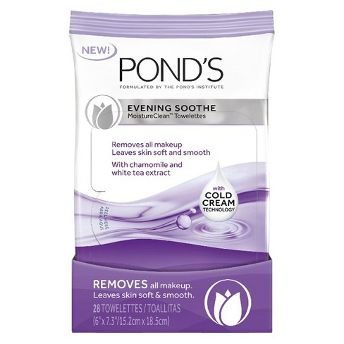 Pond's Wet Cleansing Towelettes Evening Soothe - 28ct - image 1 of 5