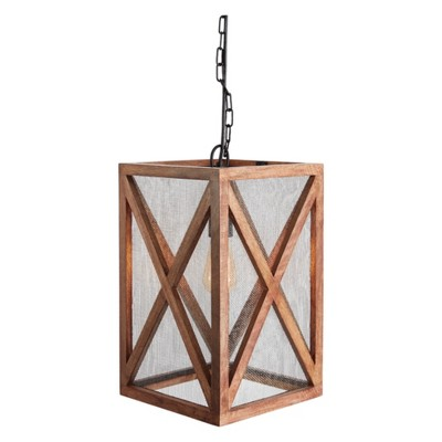Jodene Wood Pendant Light Brown - Signature Design by Ashley