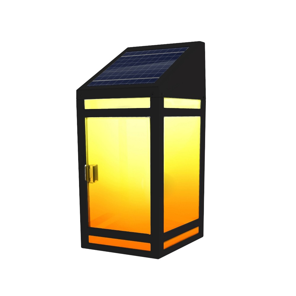 Image of LED Solar Outdoor Wall Lantern with Frost Panel - Techko Kobot