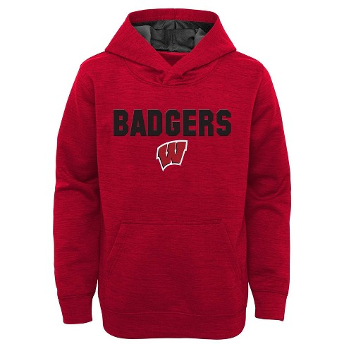 NCAA Wisconsin Badgers Boys' Scuba Knit Hoodie - image 1 of 1