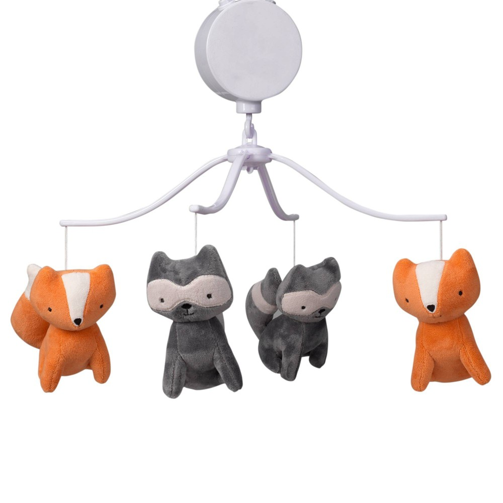 Image of Bedtime Originals Musical Baby Crib Mobile - Acorn Fox, Infant Unisex