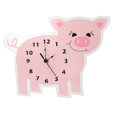 Piglet Wall Clock Pink - Trend Lab®