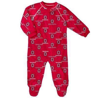 NCAA Ohio State Buckeyes Baby Boys' Blanket Sleeper - 12M