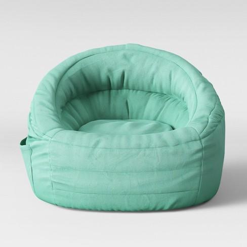 Superb Cocoon Bean Bag Chair With Pocket Aqua Pillowfort Beatyapartments Chair Design Images Beatyapartmentscom