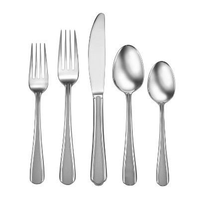 42pc Stainless Steel Satin Eastlyn Silverware Set - Studio Cuisine
