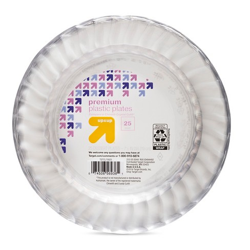 Clear Dessert Plates - 7.50'' 25ct - Up&Up™ (Compare to Chinet® Crystal Cut®) - image 1 of 1