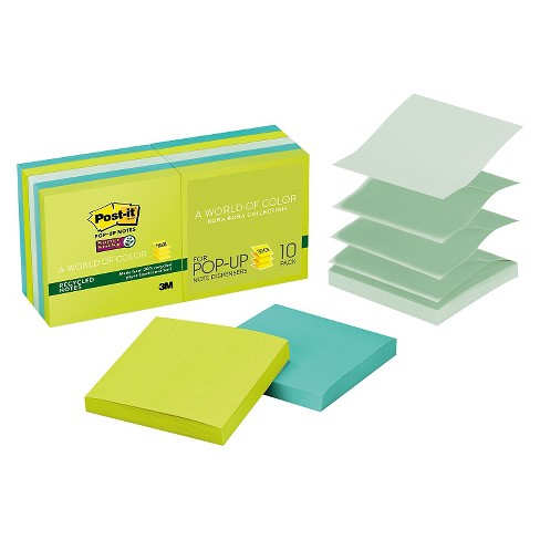 Post - it Pop - up Notes Super Sticky Pop - Up Notes - 3 x 3 - Tropic Breeze (90 Sheetss) - image 1 of 1