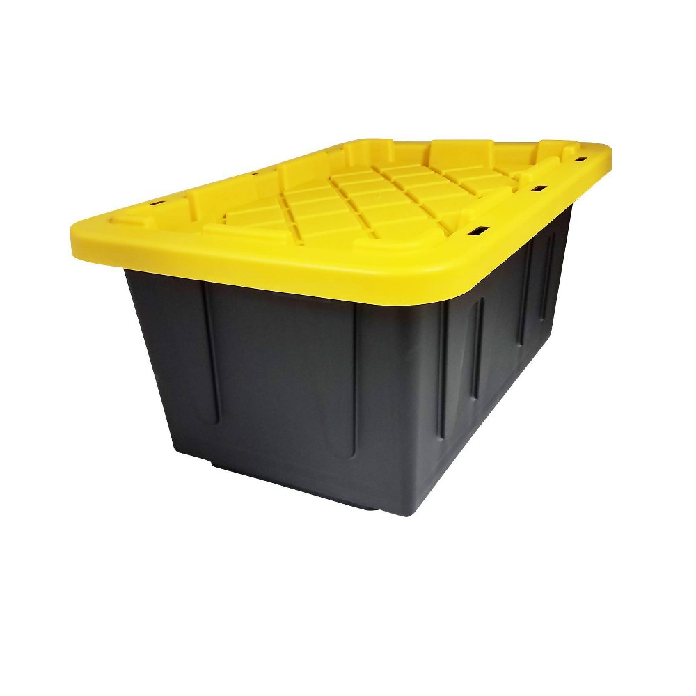 Image of 2pk 15gal Durabilt Tough Container - Homz, Yellow Black