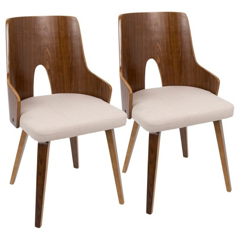 Ariana Mid-Century Modern Dining Chair-Set of 2-LumiSource - image 1 of 7