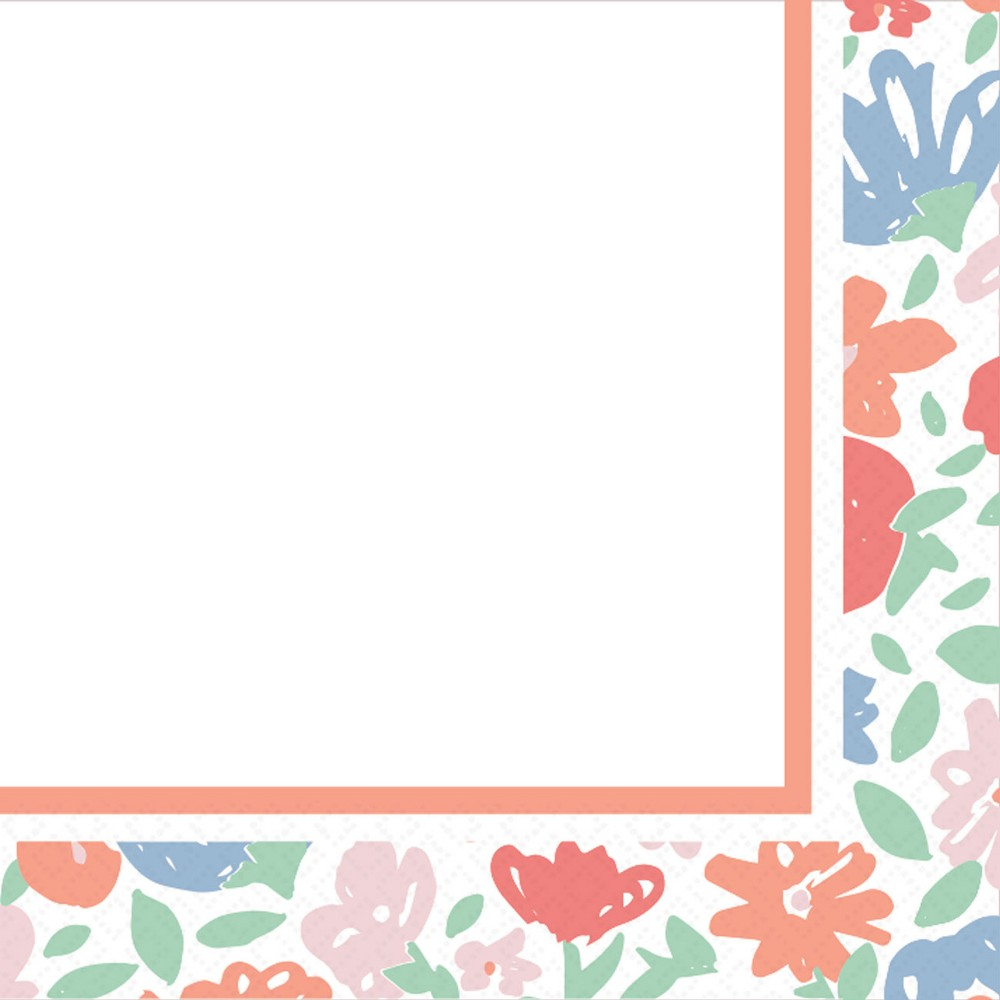 30ct Spring Floral Lunch Napkin - Spritz, Multi-Colored