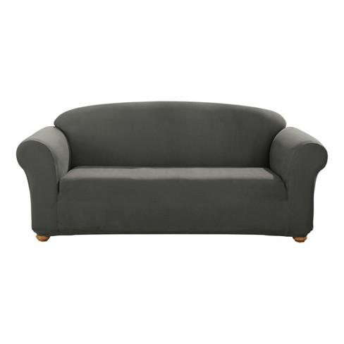 Designer Suede Sofa Slipcover Sure Fit