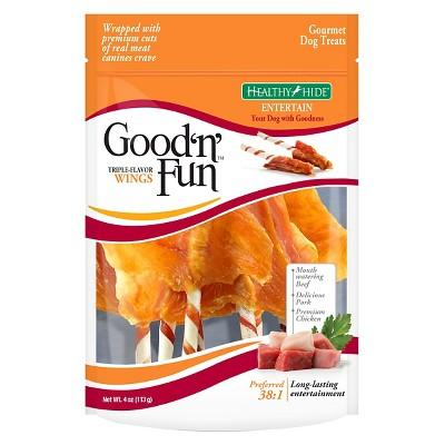 Good 'N' Fun Triple Flavor Wings Dog Treats