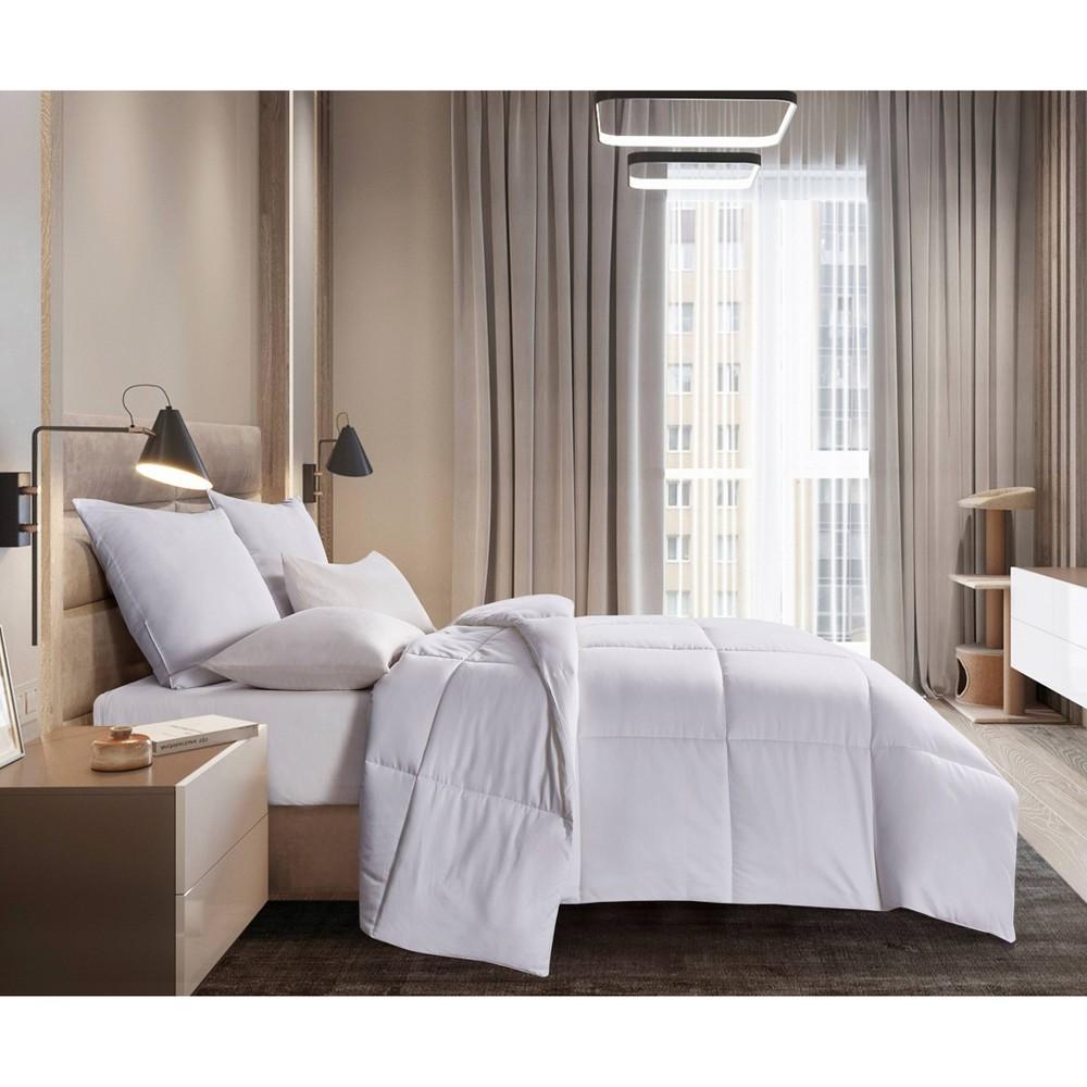 Image of King 700 Thread Count Naples Down Alternative Comforter White - Blue Ridge Home Fashions