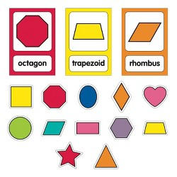 Schoolgirl Style 25pc Just Teach - Shape Cards Mini Bulletin Board Set