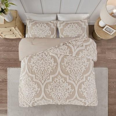3pc Eugenia Cotton Damask Comforter Set