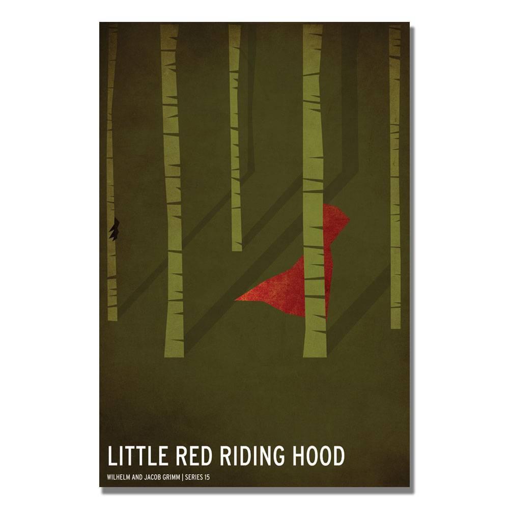 16 34 X 24 34 Red Riding Hood By Christian Jackson Trademark Fine Art