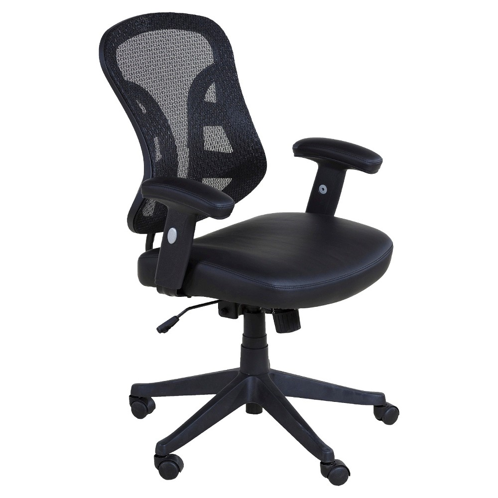 OneSpace 60-90273 Executive Chair with Mesh Back, Black